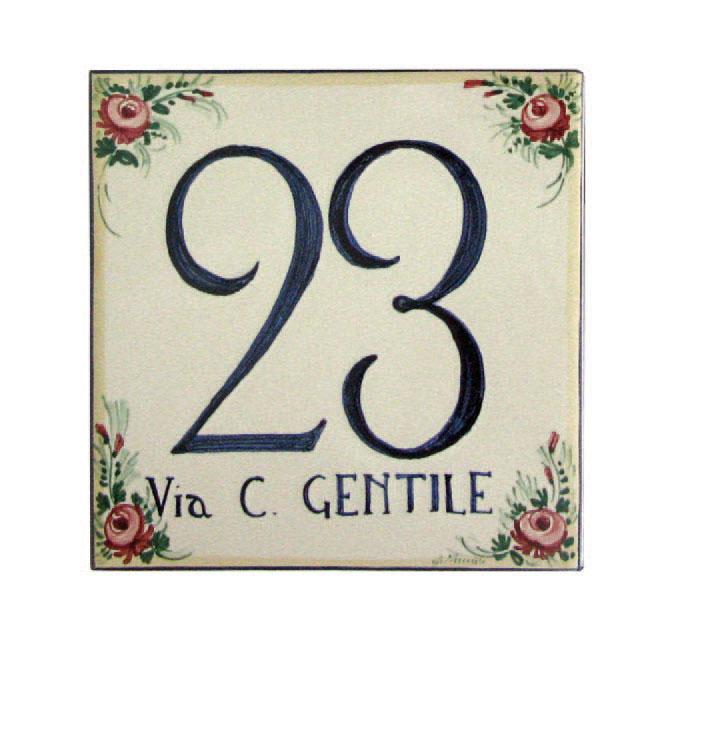 Numeri Civici In Ceramica.Targhe E Numeri Civici Arte Ceramica Castelli